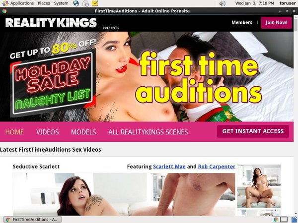 Daily First Time Auditions Accounts
