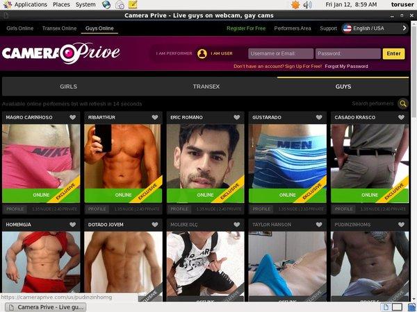 Camera Prive Gay Premium Membership