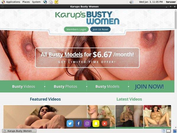 Karupsbusty.com Free Trial Special