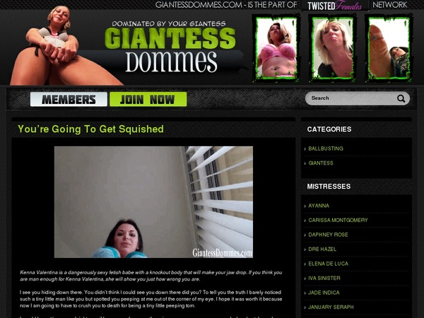 Giantess Dommes Scenes