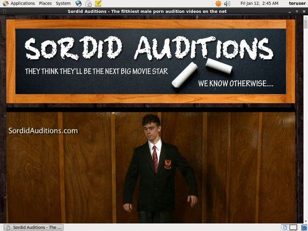 Sordid Auditions Site Review
